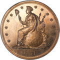 Patterns, 1871 T$1 Commercial Dollar, Judd-1156, Pollock-1300, High R.7, PR66Red NGC....