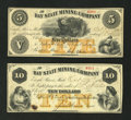 Obsoletes By State:Michigan, Eagle River, MI- Bay State Mining Company $5 ; $10 Oct. 27, 1866. ... (Total: 2 notes)