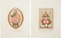 Antiques:Posters & Prints, Joseph Strutt. 1796. Beautiful Group of Four Hand-Colored Copper-Plate Engravings Featuring the Dress of Early English Nobles.... (Total: 4 Items)