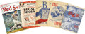 Autographs:Others, 1939-68 Boston Red Sox Programs/Scorecards Lot of 13, 9 Signed. ...