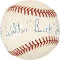 "Autographs:Baseballs, Walter ""Buck"" Leonard Single Signed Baseball...."