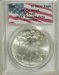 Modern Bullion Coins, 2001 $1 Silver Eagle MS68 PCGS. 9-11-01 WTC Ground Zero Recovery.PCGS Population (2861/16528). Numism...
