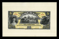 Large Size:Demand Notes, $5 Republic of Hawaii Gold Certificate 1895 (1899) Pick 6p Face and Back Proofs Choice New.... (Total: 2 notes)