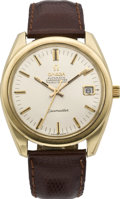 Timepieces:Wristwatch, Omega Men's Gold Seamaster Automatic, circa 1960's. ...