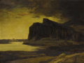 Fine Art - Painting, European:Modern  (1900 1949)  , SIR DAVID YOUNG CAMERON (Scottish 1865-1945). Seascape With Cliffs (possibly Aberdour, Scotland on the Firth of Forth), ...