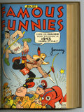 Golden Age (1938-1955):Miscellaneous, Famous Funnies #97-108 Bound Volume (Eastern Color, 1942-43)....