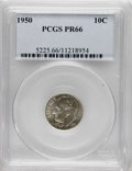 Proof Roosevelt Dimes: , 1950 10C PR66 PCGS. PCGS Population (487/180). NGC Census:(174/226). Mintage: 51,386. Numismedia Wsl. Price for NGC/PCGS c...