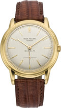 Timepieces:Wristwatch, Patek Philippe Ref 3433 Gold Automatic Retailed By Gubelin, circa 1961. ...