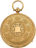 Timepieces:Pocket (pre 1900) , John Forrest London Gold Cased Lever Fusee, circa 1860. ...