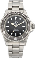 "Timepieces:Wristwatch, Rolex Ref. 5513 so called ""Roger Moore"" Submariner, circa 1962. ..."