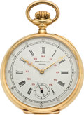 Timepieces:Pocket (post 1900), Patek Philippe Gold Chronometro Gondolo, circa 1914. ...