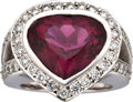 Estate Jewelry:Rings, Rubellite, Diamond, White Gold Ring. ...