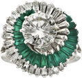 Estate Jewelry:Rings, Diamond, Emerald, Platinum Ring. ...