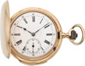 Timepieces:Pocket (pre 1900) , Swiss Rose Gold Minute Repeater, circa 1890. ...