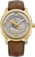 "Timepieces:Wristwatch, Cyclos Dual Phase ""Day & Night"" Gold Chronometer Wristwatch, modern. ..."