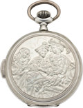 Timepieces:Pocket (pre 1900) , Swiss Silver Quarter Hour Repeater, circa 1895. ...