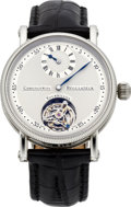 Timepieces:Wristwatch, Chronoswiss Regulateur Tourbillon Men's Steel Wristwatch, modern. ...