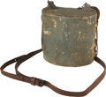 Military & Patriotic:Civil War, Bartholomae Pattern Canteen with Full Cover and Strap. Although unmarked, this kidney shaped canteen is obviously a product ...