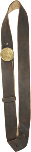 Military & Patriotic:Civil War, Civil War or Earlier Brown Buff Over the Shoulder Sling for the M1840 NCO/ Musician's Sword with Provision for the Bayonet Sca...