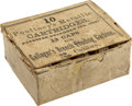 """Military & Patriotic:Civil War, Full Box: """"10 Poultney's Metallic Cartridges Patented December 15th 1863 12 caps for Gallager's Breech loading carbine 50/100 ..."""