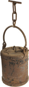 Military & Patriotic:Civil War, Civil War Artillery Water/ Sponge Bucket. Untouched, complete condition exactly as obtained by the consignor from Bannerman ...
