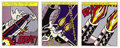 Fine Art - Work on Paper:Print, ROY LICHTENSTEIN (American, 1923-1997). As I Opened Fire(triptych), 1966. Lithograph in colors. Signed lower right:...