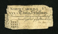 Colonial Notes:North Carolina, North Carolina March 9, 1754 30s Fine....