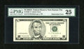Error Notes:Obstruction Errors, Fr. 1991-J $5 2003A Federal Reserve Note. PMG Very Fine 25.. ...
