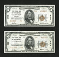 National Bank Notes:Kentucky, Lexington, KY - $5 1929 Ty. 2 First NB & TC Ch. # 906. TwoExamples.. ... (Total: 2 notes)