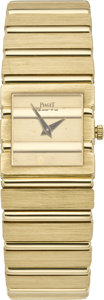 Timepieces:Wristwatch, Piaget Lady's Gold Polo, circa 1990. ...