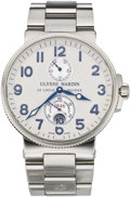 "Timepieces:Wristwatch, Ulysee Nardin ""1846"" Marine Chronometer Steel Wristwatch, circa2000. ..."
