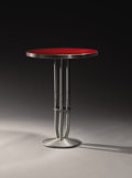 "Furniture : American, WARREN MCARTHUR (1885-1961). An Anodized Aluminum and Laminated Wood Occasional Table, model no. 1632 from the ""One Park Ave..."