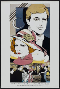 "The Great Gatsby Lot (Gentleman's Quarterly, 1974). Posters (5) (21.5"" X 28"") and (19"" X 28.5""). Dra..."