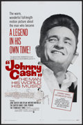 """Movie Posters:Documentary, Johnny Cash! The Man, His World, His Music (Continental, 1969). One Sheet (27"""" X 41""""). Documentary...."""
