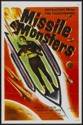 "Movie Posters:Science Fiction, Missile Monsters (Republic, 1958). One Sheet (27"" X 41"")Flat-Folded. Science Fiction...."