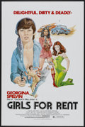 "Movie Posters:Sexploitation, Girls For Rent (Independent International Pictures, 1974). OneSheet (27"" X 41""). Sexploitation...."
