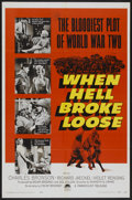 """Movie Posters:War, When Hell Broke Loose (Paramount, 1958). One Sheet (27"""" X 41"""").War...."""