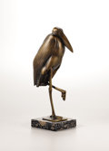Fine Art - Sculpture, American:Modern (1900 - 1949), PAUL MANSHIP (American, 1885-1966). Adjutant Stork, 1932.Bronze with golden brown patina. Inscribed on the base: PM©...