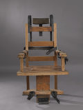 Antiques:Decorative Americana, An Electric Chair....