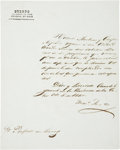 "Autographs:Non-American, Mariano Arista Letter Signed. One page in Spanish, 8.25"" x 10.5"",October 6, 1840, General Headquarters in the Hacienda de l..."