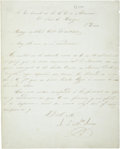 Autographs:Non-American, Antonio López de Santa Anna Manuscript Letter Signed to Louis E.Hargous, Mexican Vice Council to the United States....
