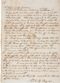 "Autographs:Statesmen, Robert E. B. Baylor Legal Document Signed. One page, 7.75"" x 12.5"",n.d. [possibly late 1840s], n.p. While living in Alabama..."