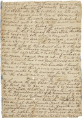 """Autographs:Military Figures, [Mier Expedition] William Mosby Eastland Document Signed """"Wm M. Eastland"""". Two pages, 8.5"""" x 12"""", May 30, 1840, Fayette ..."""
