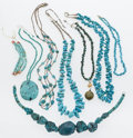 Estate Jewelry:Lots, Southwestern Multi-Stone Necklace Lot. ... (Total: 8 Items)