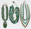 Estate Jewelry:Lots, Southwest Turquoise, Multi-Stone, Silver Necklace Lot. ... (Total: 10 Items)