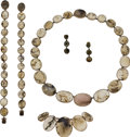 Estate Jewelry:Suites, Victorian Agate, Gold Jewelry Suite. ... (Total: 6 Items)