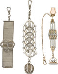 Timepieces:Watch Chains & Fobs, Lot of Three Watch Fobs, circa 1905. ...