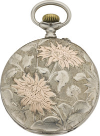 Longines Gold and Silver Pocket Watch, circa 1905