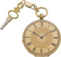 Timepieces:Pocket (pre 1900) , Swiss Gold Keywind Pocket Watch, circa 1865. ...