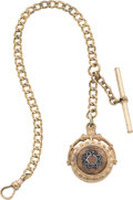 Timepieces:Watch Chains & Fobs, Watch Chain with Goldstone & Carnelian Fob, circa 1880. ...